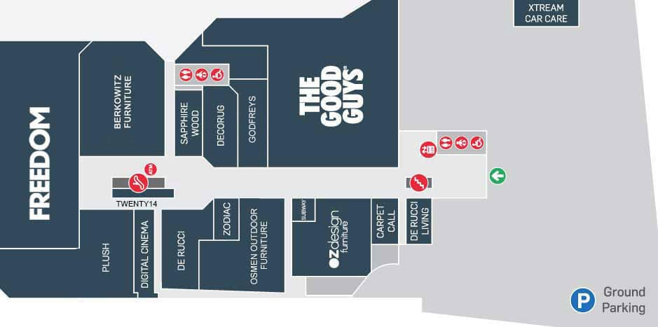 Store directory primewest auburn megamall for Store layout maker